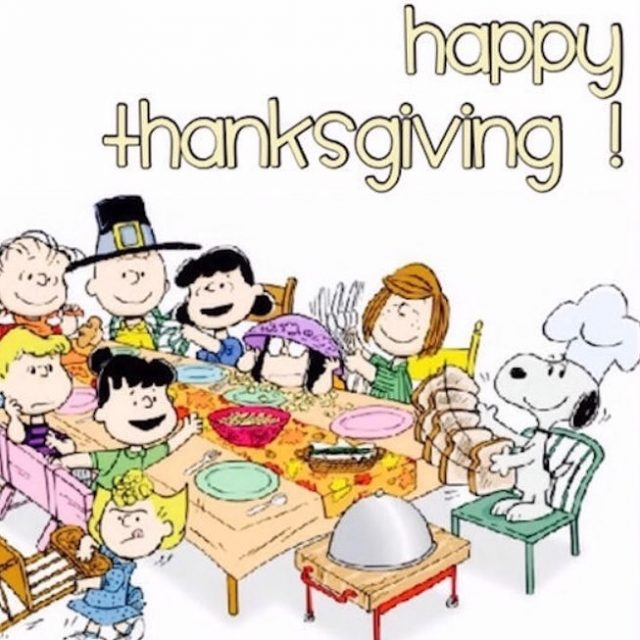 Happy Thanksgiving to all my American buddies!